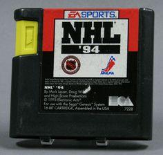 110.7165: Sega Genesis NHL '94   video game