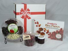 """Cranberry Valentine's Gift Box.  Make your Valentine swoon with these """"berry"""" good cranberry treats! Special """"sweetheart"""" pricing and gift box included. #valentine #gift"""