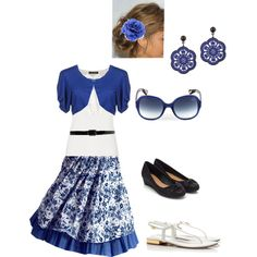 Summer N' Blue; so pretty but might be a little short. created by highlandlassie on Polyvore
