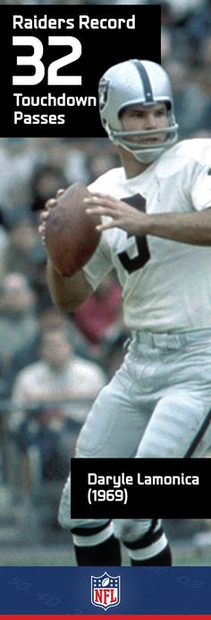 """Daryle Lamonica was nicknamed """"the Mad Bomber"""" for his propensity to throw a long pass in any situation."""