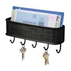 Key Letter Holder Key Rack Organizer Mail Entryway Wall Mount Black Bronze…