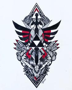 Zelda Logo tattoo design that I made for a friend :)  Visit blazezelda.tumblr...