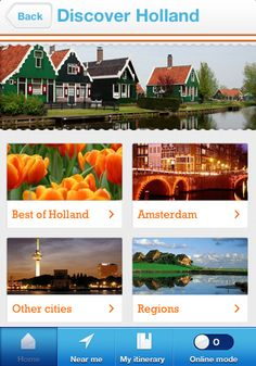 """There's no better way to """"Discover Holland"""" than with the Visit Holland app. #travel #Netherlands #Holland"""