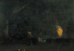 'Nocturne: Black and Gold - The Fire Wheel', James Abbott McNeill Whistler, 1875 | Tate