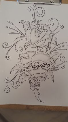 Embroider Tattoos of Hannah Tattoo Design Drawings, Pencil Art Drawings, Love Drawings, Drawing Sketches, Painting & Drawing, Wallpaper Collection, Graffiti Drawing, Flower Sketches, Color Pencil Art