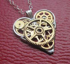 Watch Parts Heart Necklace Complexus Clockwork by amechanicalmind