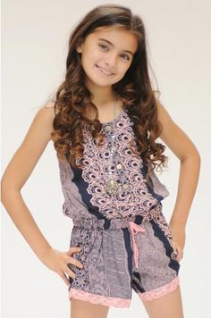Tween Aphrodite Lace Romper  7 to 16 Years at Cassie's Closet