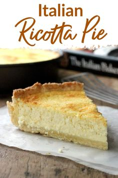 The best Italian Lemon Ricotta Pie, with an easy to make sweet pastry dough and a filling full of flavor. A great recipe for Easter, Spring brunch and Mother's Day table. Ricotta Cheese Desserts, Ricotta Pie, Italian Ricotta Cheesecake, Pumpkin Cheesecake, Italian Desserts, Fun Desserts, Dessert Recipes, Italian Recipes, Italian Cooking