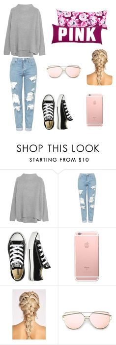 """Untitled #240"" by timcaaa on Polyvore featuring Vince, Topshop and Converse"