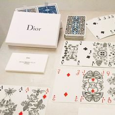 Playing cards by Michaël Cailloux for Dior #dior #michaelcailloux #playingcards
