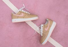 001c2b838 Nike Air Force 1 Low Linen Kith Ronnie Fieg 845053 201 SZ 8.5 Nike Air Force
