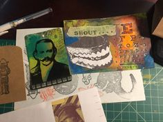 Working on some mail art. Whose interested in a trade? #art #mailart #brianlapsley