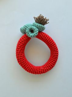 Contemporary crochet bracelet  summer jewelry bangle by Loulalalou, $26.00