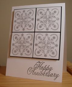 black and white card-change snowflakes to cubcapkes or balloons for birthday card