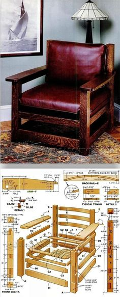 Armchair Plans - Furniture Plans and Projects | WoodArchivist.com