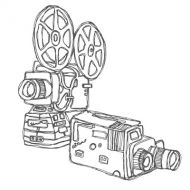 cine projector drawing