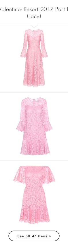 """""""Valentino: Resort 2017 Part II (Lace)"""" by livnd ❤ liked on Polyvore featuring valentino, resort2017, livndfashion, livndvalentino, dresses, pink, lace cocktail dress, lace dress, pink cocktail dress and pink lace dress"""