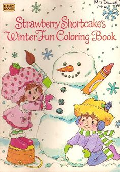 Strawberry Shortcake Coloring Book - Winter Fun @ Toy-Addict.com