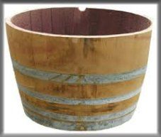 <p>The half wine barrel is quite a versatile piece!  Fill with ice to keep drinks cold, flip upside down for a coffee table, or lie on its side for a rustic prop. </p><p></p><p>F-23-OS</p>