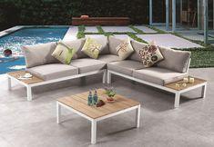 Σαλόνι Κήπου με Λευκό Σκελετό ή με Φινίρισμα από Ανοξείδωτο Ατσάλι AG-220426