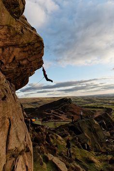 Nathan Lee on Paralogism, E7 6c, Peak District UK. Credit: Andi Turner