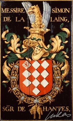 Armorial plates from the Order of the Golden Fleece - Lukas de Heere - Sint Baafskathedraal Gent Catholic Orders, Chivalry, Knights Templar, Family Crest, Coat Of Arms, Les Oeuvres, Wood Art, Medieval, Badge