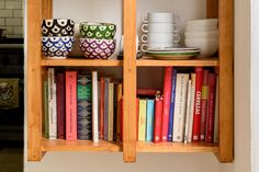 Lots of cookbooks in the home of a chef!