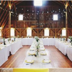 love the idea of the reception being in the barn...super cute. just string some white lights and add some shurbery and suchh. lights lights and mason jars :)