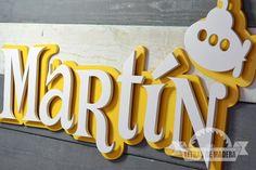 Letras decoradas de madera