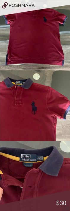 1410ee3422ac Polo Shirt Classic fit Ralph Lauren Polo shirt in burgundy and Navy blue.  Polo by
