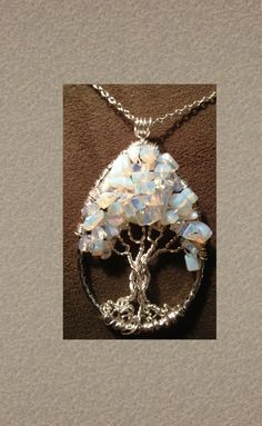 Reserved for Colleen Polk - Tree of Life Moonstone Teardrop Handmade Jewelry Pendant Celtic Renaissance Gemstones Wire Wrapped Trees