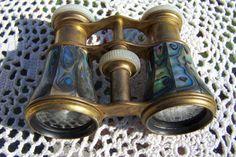 Abalone Antique Opera Glasses  Paris Opera by VintageDelights4U