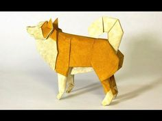 How to fold an Origami Dog - Dachshund (Fuchimoto Muneji) - YouTube
