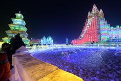 Chine : Les incroyables sculptures sur glace du Festival d'Harbin