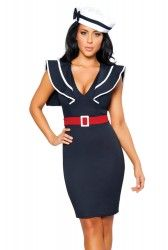 Captains Choice Fancy Dress Costume | Womens Sexy Sailor Fancy Dress Party Outfits