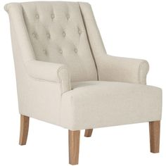 OKA Lavenham Armchair ($1,040) ❤ liked on Polyvore featuring home, furniture, chairs, accent chairs, ecru, beige accent chair, oka furniture, ivory chair, antique white chairs e cream accent chair