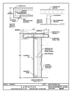 counter detail drawing - Google Search: