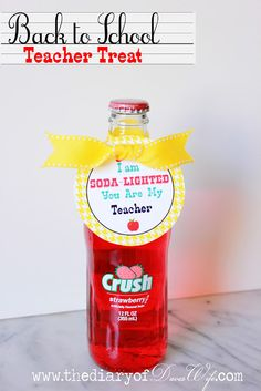 I'm soda lighted to _____  Another referral, thank you, appreciation gift idea