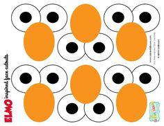 Elmo Face Cutouts