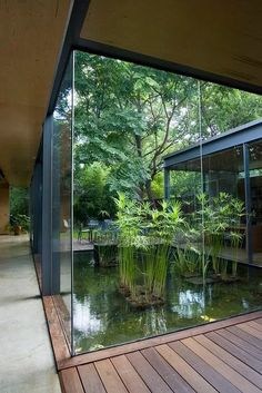 Downtown Austin Modern Home - Annie Residence. Downtown Austin Modern Home Annie Residence. Downtown Austin Modern Home Design Exterior, Asian Home Decor, Interior Garden, Room Interior, Modern House Design, Modern Tropical House, Tropical Houses, Water Features, Future House