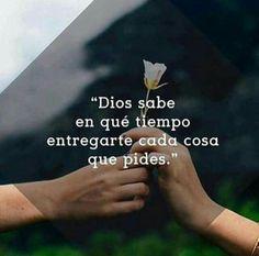 El tiempo de Dios es perfecto...por eso no me afano en poder realizar mis sueños...