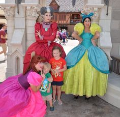 Top Six Meet and Greets at the Magic Kingdom - No. 2: Lady Tremaine, Anastasia, and Drizella (Fantasyland) / Click to read this great article from the TouringPlans Blog.  Learn how you can get a free TouringPlans subscription from http://www.buildabettermousetrip.com/free-touring-plans