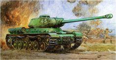 IS-2 Iosif Stalin modelo 1943, «numero tactico 43». Yoshiyuki Takani. Más en www.elgrancapitan.org/foro