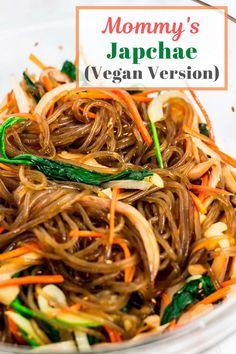 Stir Fry Glass Noodles, Korean Glass Noodles, Asian Noodle Recipes, Asian Recipes, Japchae, Korean Sweet Potato Noodles, Asian Cooking, Vegan Dinners, Lunch Recipes
