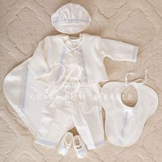 Our Owen 3-Piece Suit Set is a stunning suit for your baby. At ChristeningGowns.com we specialize in cute dresses and gowns for christenings, baptisms, and unique events.