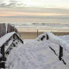 Picturesque winter in Ogunquit, Maine