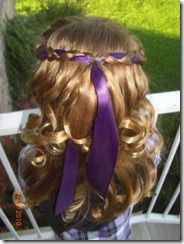 ash and kk with this but different ribbon if hair is long enough
