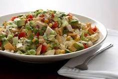 Bob Evans Wildfire Salad Copycat Recipe Serves 4 1 Head of Lettuce (chopped) 1 can, Whole Kernal Corn (drained) 1 c. Salad Sauce, Salad Bar, Roasted Corn, Roasted Chicken, Chicken Salad, Kopy Kat Recipe, Cranberry Spinach Salad, Gluten Free Restaurants, Chopped Salad