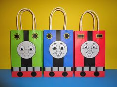 Instant Download Thomas and Friends Favor Bags - Thomas the Train Party/ Goody/ Candy/Treat/ Loot Bags, Thomas and Friends Birthday Party by CreativePartyStudio on Etsy Thomas the Train Party Favors, Thomas and Friends Favors, Thomas and Friends party decoration, Thomas the train cake, Thomas the Train cookies, Thomas the train invitation, Thomas and friends cake/ printable/ free