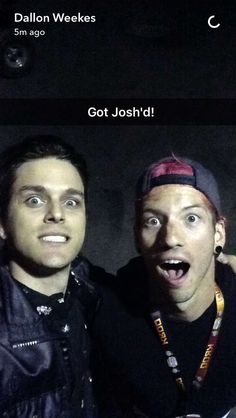 Dallon weekes on snapchat with josh dun
